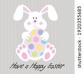 easter bunny and egg for easter ...   Shutterstock .eps vector #1920355685