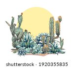 Graphic Colored Blue Agave ...