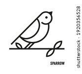 sparrow bird icon. ornithology  ...   Shutterstock .eps vector #1920356528