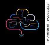 cloud sever hosting tech flat...   Shutterstock .eps vector #1920361688