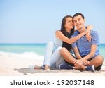 beautiful couple on the beach. | Shutterstock . vector #192037148