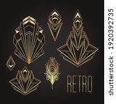 art deco vintage invitation... | Shutterstock .eps vector #1920392735