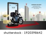 deliver the parcel by... | Shutterstock .eps vector #1920398642