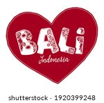 red vector heart shape with... | Shutterstock .eps vector #1920399248