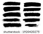 vector set of hand drawn brush... | Shutterstock .eps vector #1920420275