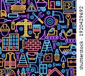 construction seamless neon... | Shutterstock .eps vector #1920429692