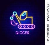 digger neon label. vector... | Shutterstock .eps vector #1920429788