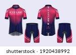 cycling jerseys mockup t shirt... | Shutterstock .eps vector #1920438992