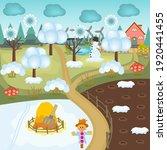 vector illustration of a winter ... | Shutterstock .eps vector #1920441455
