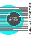 geometric cover design.... | Shutterstock .eps vector #1920476888