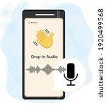 smartphone with waving hand ... | Shutterstock .eps vector #1920499568