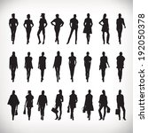 set of vector fashion people...   Shutterstock .eps vector #192050378