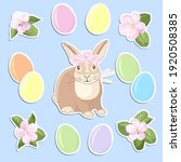 vector set of stickers with... | Shutterstock .eps vector #1920508385