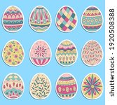 vector set of stickers with... | Shutterstock .eps vector #1920508388