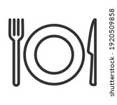 cutlery  plate  fork  knife.... | Shutterstock .eps vector #1920509858