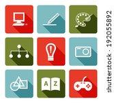set of freelance job icons | Shutterstock .eps vector #192055892