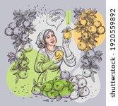 picking hurricane apples. the...   Shutterstock .eps vector #1920559892