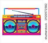 retro boombox trendy style.... | Shutterstock .eps vector #1920572582