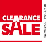 clearance sale  sale  low price ... | Shutterstock .eps vector #192057518