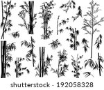 illustration with bamboo... | Shutterstock .eps vector #192058328
