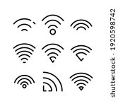 wifi icon or logo isolated sign ... | Shutterstock .eps vector #1920598742