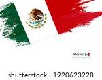 stylish brush flag of mexico.... | Shutterstock .eps vector #1920623228