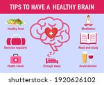 tips to have a healthy brain... | Shutterstock .eps vector #1920626102