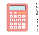 calculator math device digital...   Shutterstock .eps vector #1920652925