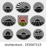 landscape labels set. vector  | Shutterstock .eps vector #192067115