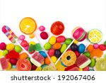 mixed colorful candies isolated ... | Shutterstock . vector #192067406