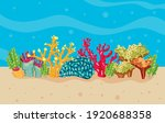 corals and algaes in sea water...   Shutterstock .eps vector #1920688358