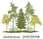 spring season  silhouette of... | Shutterstock .eps vector #1920709748