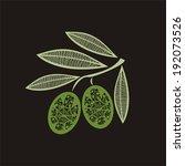 olive vector illustration | Shutterstock .eps vector #192073526