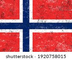 vector old dirty flag of norway. | Shutterstock .eps vector #1920758015
