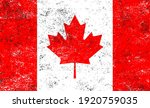 vector old dirty flag of canada. | Shutterstock .eps vector #1920759035