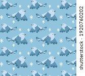 background of flying birds ... | Shutterstock .eps vector #1920760202