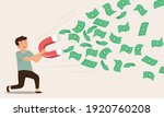 young man using magnet catch... | Shutterstock .eps vector #1920760208