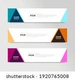 vector abstract banner design... | Shutterstock .eps vector #1920765008