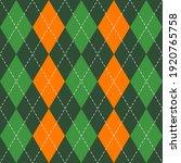 st. patricks day argyle plaid....   Shutterstock .eps vector #1920765758