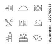 set of simple restaurant... | Shutterstock .eps vector #1920780158
