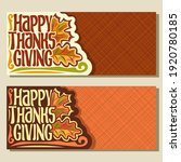 banners for thanksgiving day... | Shutterstock . vector #1920780185