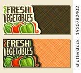 banners for fresh vegetables... | Shutterstock . vector #1920782402