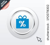 gift box sign discount icon....