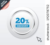 20 percent discount sign icon.... | Shutterstock .eps vector #192078752