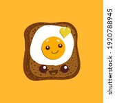 egg sandwich. slice of bread... | Shutterstock .eps vector #1920788945