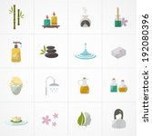 spa icons set  | Shutterstock .eps vector #192080396