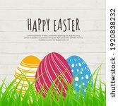 illustration of easter eggs... | Shutterstock .eps vector #1920838232