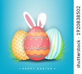 happy easter with bunny ear ... | Shutterstock .eps vector #1920838502