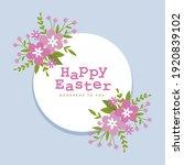 happy easter font in circular... | Shutterstock .eps vector #1920839102