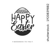 happy easter concept with eggs... | Shutterstock .eps vector #1920839882